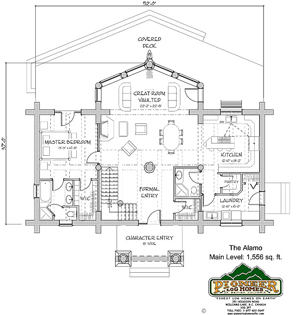 The alamo 230 for Great room dimensions